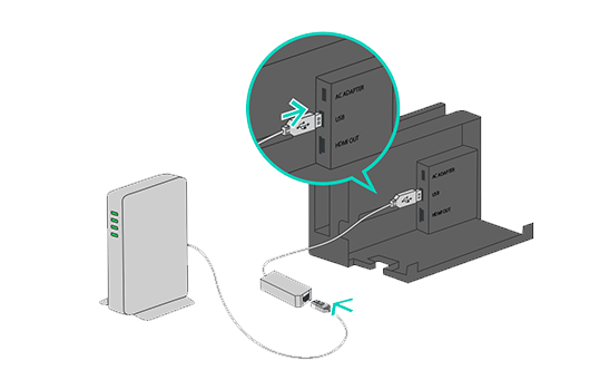 how to  setup a wired internet connection