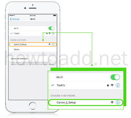 how to setup wireless printer on iphone