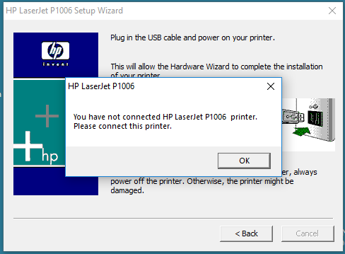 HP Printer Won't Install On Windows 10